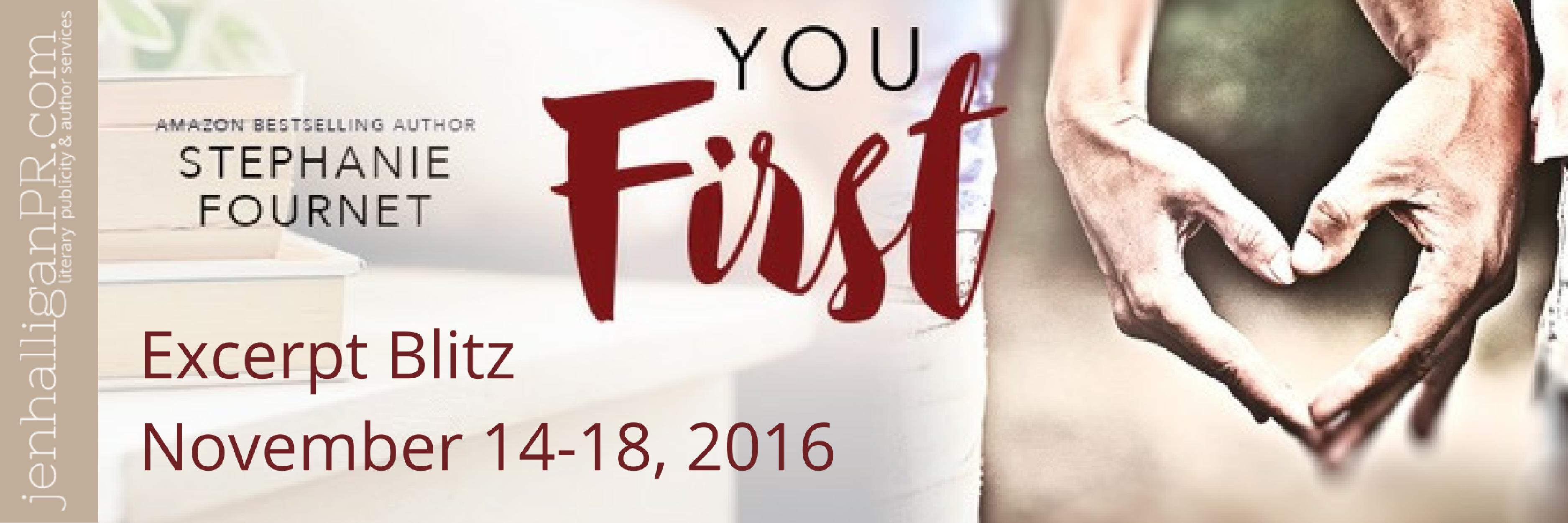 YOU FIRST by Stephanie Fournet   JenHalliganPR.com